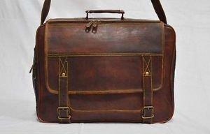 Real Vintage Leather Messenger Handmade Bag Briefcase Rucksack Satchel Hippie