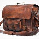 Real Leather Messenger Genuine Natural Handmade Satchel Bag Briefcase Sling