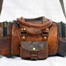 Real Leather Handmade Travel Bag Luggage Rucksack Bag Duffle Backpack Brown Bag