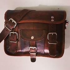 Vintage Leather Messenger Laptop Satchel Bag Handmade Messenger Sling Cross Bag