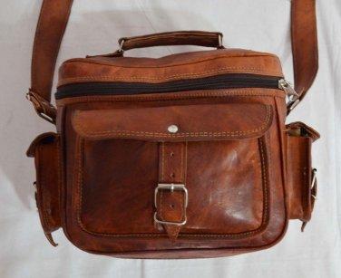 Real Leather Handmade Vintage Messenger Satchel Shoulder Brown Camera Bag