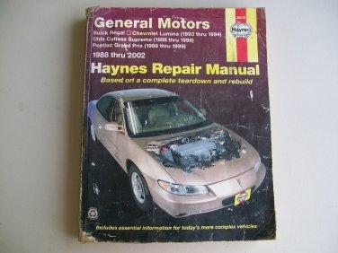 Haynes GM Repair Manual 1988 Thru 2002