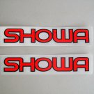 "Set Of 2 Showa Decals 1""x6"" Motorcycle Bike"