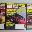 Hot Rod Magazine Lot Budget Body & Paint Engine Buildups Dragstrip Tune Ups MIG Welding Vintage