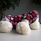 Dog Peace Sign Hoodie With Hearts Fleece Type S