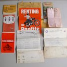 Vintage Lot Motorcycle Warranty Service Tyre Booklet Manuals Paperwork Hondamatic Benelli Honda