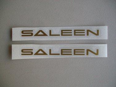 Saleen Decals Metallic Gold Stickers Fox Body Mustang Set Of 2