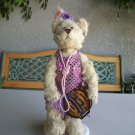 Brass Button Bear Daisy 1920 s Flapper Pickford 1999 With Stand