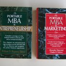Portable MBA Business Book Lot B21 MBA In Marketing MBA In Entrepreneurship