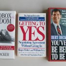 Business Self Help Book Lot B29 Communication Negotiation Management Motivation