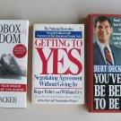 Business Self Help Book Lot B29 Communication Negotiation Management Motivation