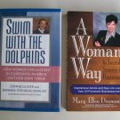 Business Motivation Book Lot B32 Swim With Dolphins Woman's Way Management Leadership
