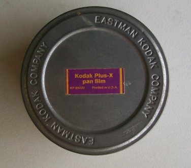 Eastman Kodak Company Vintage Metal Film Can Plus-X Pan Film Camera Photography
