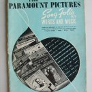 Vintage Third Paramount Pictures Song Folio With Words And Music Piano Guitar Banjo