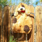 Dog Costume Authentic Kids 12 Mos Brown Tan Floppy Ears Zippered Vest Puppy Halloween