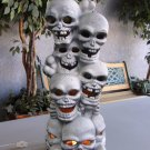 Halloween Stacked Skulls Lighted Décor Tall Skull Light Bones Trendmasters