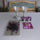 Halloween Lot Skull Goblets Shot Glasses Bloody Hands Handprints Goofy Teeth
