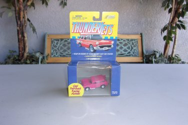 Johnny Lightning Thunder Jets  Slot Car 57 Chevy Nomad Pink Vintage Racing Snap On Body