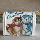Christmas Mini Mailbox Embellished Snow Dog Ski Bear