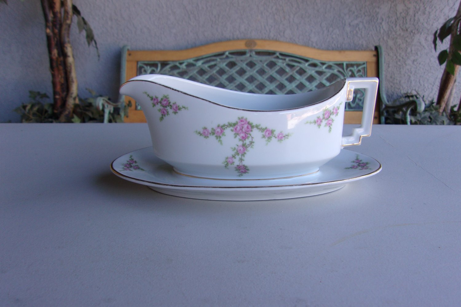 Electric Gravy Boat ~ Gravy boat attached drip plate vintage h co selb bavaria