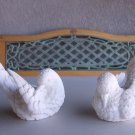 White Doves Pair Sculptor A Santini Classic Figure Made In Italy Birds Of Peace Love Set Of 2