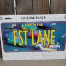 Nascar Daytona FST LANE License Plate New Racing Blue Yellow Race Cars Speedway