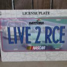 Nascar Daytona LIVE 2 RCE License Plate New Racing Blue Race Cars Speedway