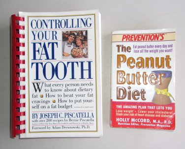Self Help Health Diet Book Lot SH4 Controlling Your Fat Tooth & Peanut Butter Diet Prevention