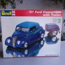 Revell 37 Ford Convertible With Trailer Model Kit 1/24 Vintage Hot Rod