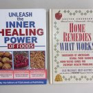Self Help Health Book Lot SH5 Healing Power Of Foods Home Remedies Nutrition Hardcover