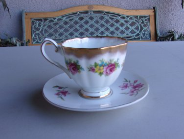 Teacup And Saucer Vintage Taylor & Kent England China Tea Cup