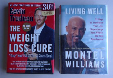 Weight Loss Health Book Lot SH8 Kevin Trudeau Montel Williams As See On TV Hardcover