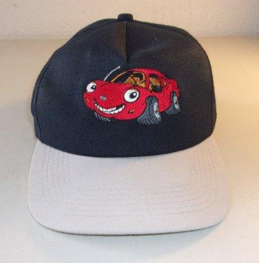 Vintage Chevron Cartoon Car Hat Techron Toon Talking Car Dark Blue Navy Gray Adjustable
