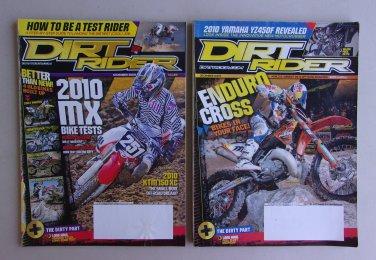 Dirt Rider Magazine Lot Nov Dec 2009 Honda Kawasaki Yamaha MX Enduro