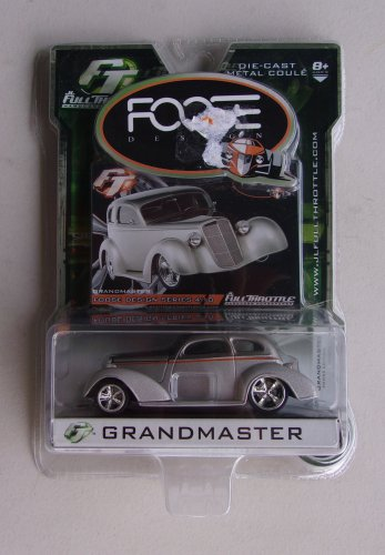 Foose Grandmaster Full Throttle Diecast Car Foose Design Series Hardcore Horsepower Gray