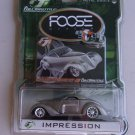 Foose Impression Full Throttle Diecast Car Foose Design Series Hardcore Horsepower Silver Gray