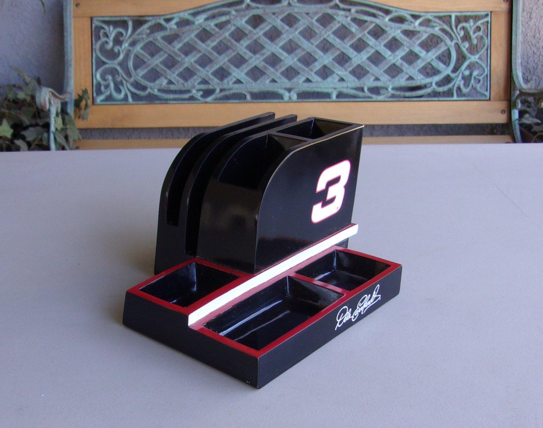 Dale Earnhardt Sr 3 Desk Organizer Nascar Racing Red Black Office