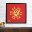 Personalized Snowflake Poster for friend, families and partners