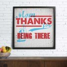 Personalized thank you poster for mother's day