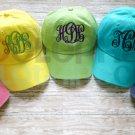 Monogram Toddler Hat, Personalized Baseball Cap for Children, Birthday Gift, youth, kids