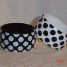 Plastic Polka dot Bangle Bracelets White and Black
