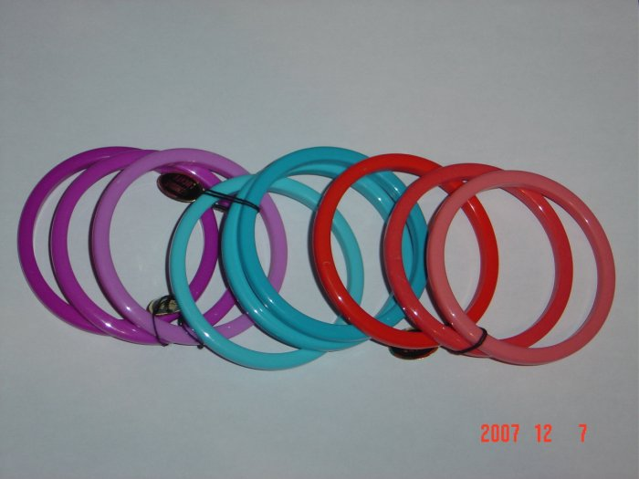 Lucite Bangle Bracelets (3) Sets