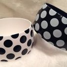 Plastic Polka Dot Black White Bangle Bracelets