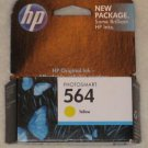 HP 564 Yellow Ink Cartridge CB320WN NEW