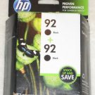 New HP 92 Black + 92 Black C9512FN Inkjet Cartridge Twin-pack