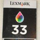 New Genuine Lexmark 33 Color ink cartridge 18C0033