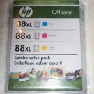 GENUINE HP 88XL Color Combo Pack BRAND NEW SEALED CB329BN