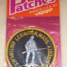 "LEXINGTON MASS Birthplace of American Liberty PATCH - 3"" round stitched NEW"