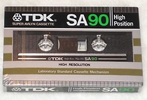 TDK SA 90 Cassette Tape High Position Type 2 New Sealed