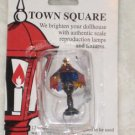 Dollhouse Miniatures Town Square Electric Tiffany Table Lamp Light NEW